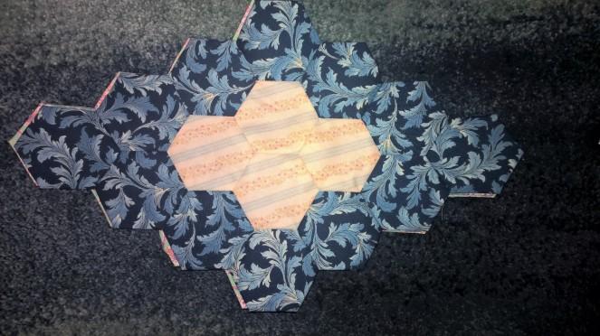 Hexagon Lozenge Blue