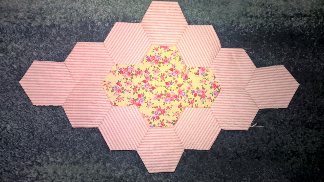 Hexagon Lozenge Pink