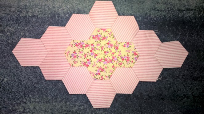 Hexagon Lozenge Pink